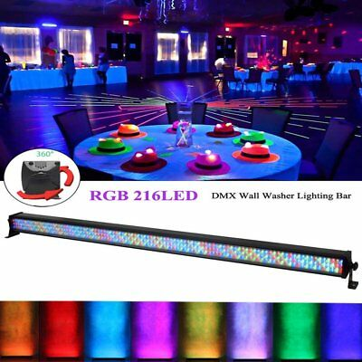 216 LED RGB Wall Wash Bar Light DMX512 Night Club Wedding Party Disco Stage RF
