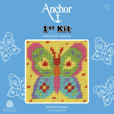 Butterfly Needlepoint Tapestry - Anchor 1st Kit - 3690000-20018