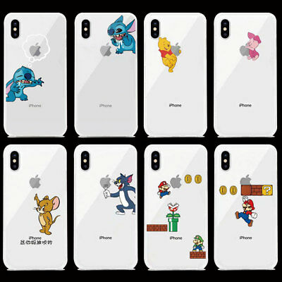 FUNDA CARCASA SUAVE TPU Silicona PARA Apple iPHONE 6 7 8 PLUS X XR XS Max DISNEY