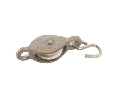 No.1260 Single Line Cast Pulley With Hook - 38mm Nylon Wheel