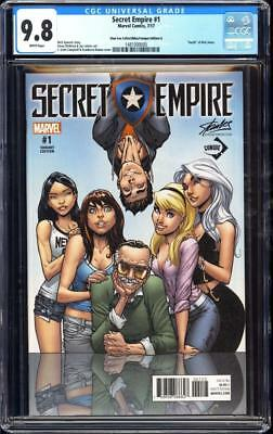 Secret Empire #1 SS CGC 9.8 Stan Lee collectibles variant A