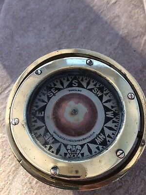 BRASS NAUTICAL  Marine Ships COMPASS