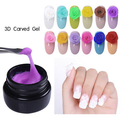 LILYCUTE 3D Nail Art Carved Gel Sculpture Painting Acrylic UV Tips Design 5ml