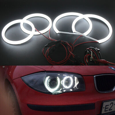 Cotton SMD LED Angel Eyes Halo Ring DRL Kit For BMW 1 series E87 2004-2011