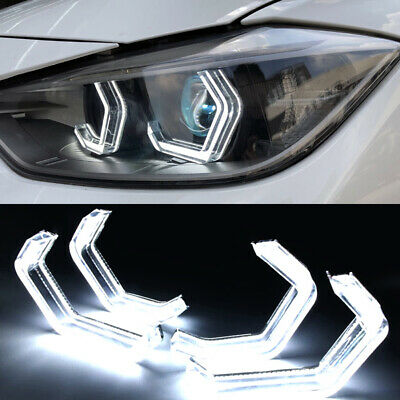 White Crystal LED Angel Eye Halo Ring DRL For BMW 3 Series F30 F32 335i F82 F80