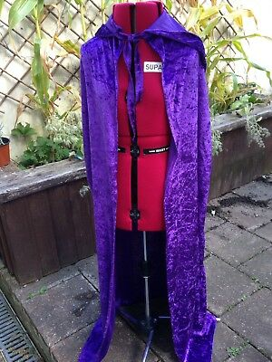 Childs Cape Purple With Hood 6-10 long