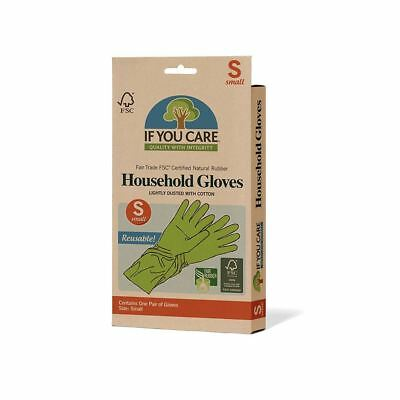 If You Care FSC Certified Natural Rubber Household Gloves- Small–1 pack