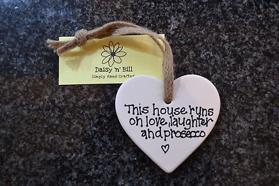 Slate Heart This house runs on Love laughter and Prosecco Gift Present