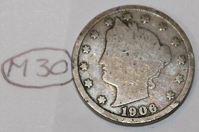 United States 1906 Liberty Head Nickel USA 5 Cents Coin Lot #M30