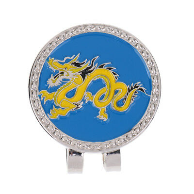 Metal Golf Hat Clip Magnetic with Golf Ball Marker Chinese Zodiac Dragon