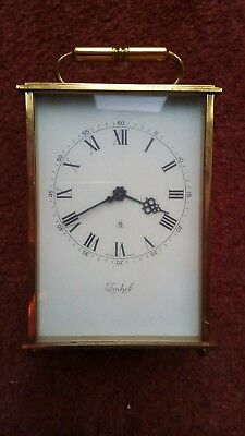 Vintage Imhof Swiss Solid Brass Carriage Clock 8 Days 16 jewel Roman Numerals