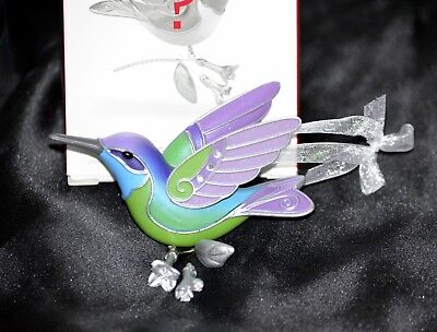 2018 Hallmark Hummingbird Surprise GREEN BLUE Beauty of Birds REPAINT Mystery