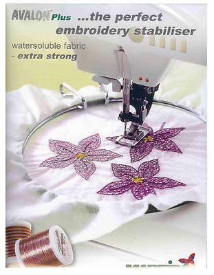 Madeira Avalon Plus extra strong water soluble Embroidery Stabiliser 100 x 50 cm