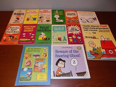 Lot of 14 Peanuts books Charlie Brown Snoopy Charles Schulz cartoon