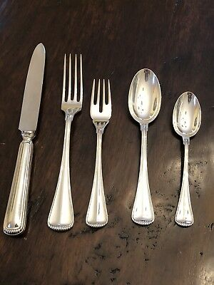 Buccellati Italy Milano Sterling Silver Five Piece Place Setting
