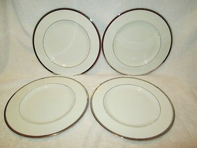 """Pickard China USA Sheffield Lot of 4 Salad Luncheon Plates 8""""  gently used"""