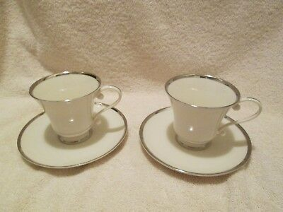 PICKARD CHINA SHEFFIELD PATTERN 2 Cups 2 Saucers  each 6 oz  USA gently used