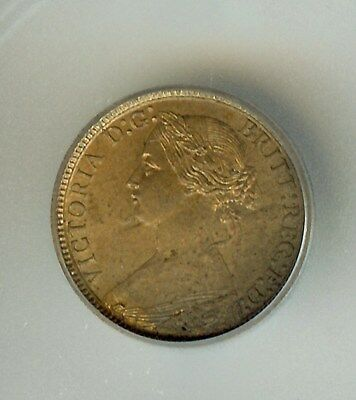 Great Britain 1873 Farthing  Km#747.2  Icg Ms64 Rb