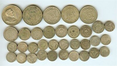 South Africa Mixed Dates & Denominations Nice 34 Coin Collection All Silver!