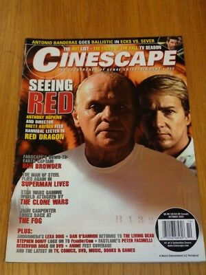 Cinescape October 2002 #65 Red Dragon Superman Star Wars Us Magazine =