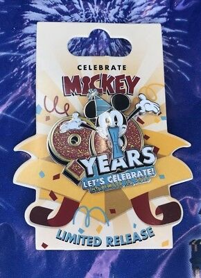 Disney Mickey Mouse 90th Anniversary LR Pin New Let's Celebrate November 18 2018