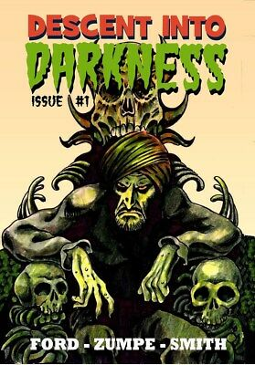 185 DESCENT INTO DARKNESS#1 Rainfall chapbook. Tales of horror and the macabre