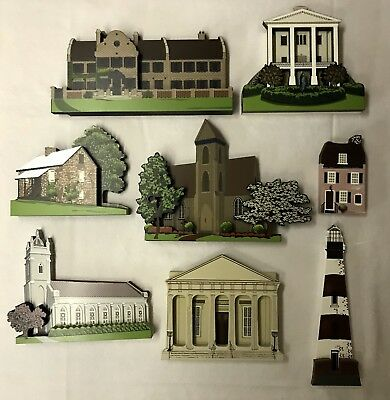 Shelia's Collectibles, 8 House Lot, All South Carolina, Numbered 1990's