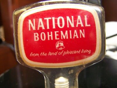 Vintage MR. NATTY BOH NATIONAL BOHEMIAN BEER Tap Handle Knob Sign Ball Brewing
