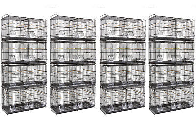 Kookaburra Walnut Double Wire Breeding Cages x16 For Cockatiels Budgie Canary