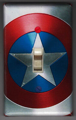 Captain America Shield Light Switch Cover Plate - Marvel Avengers FREE SHIPPING