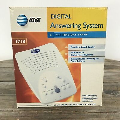 AT&T Digital Answering System With Time/Day #1718