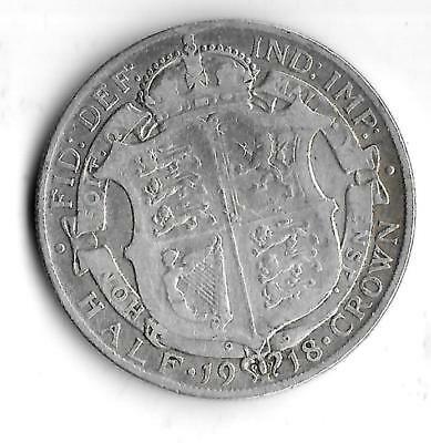 1918 - Great Britain - 1/2 Crown - Silver       (#16)