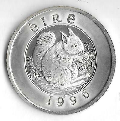 1996 - Eire - 25  - 40 Pence  - Silver Crown Size  - UNC - Please Read    ( D-5