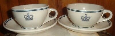 TWO Mayer China cups and saucers
