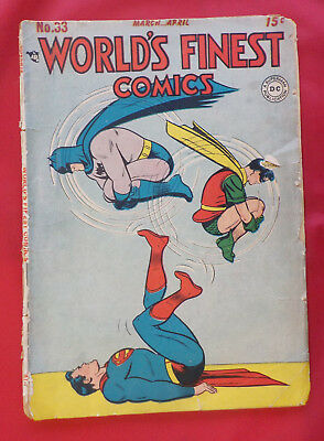 World's Finest Comics #33 ! DC 1948 ! MOSTLY COMPLETE ! SWAN ! hayfamzone