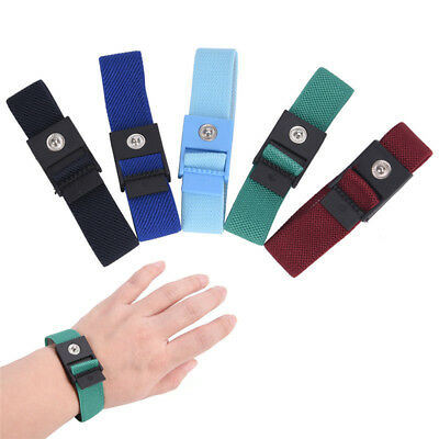 Anti Static Cordless Bracelet Electrostatic ESD Discharge Cable Band Wrist*St ME