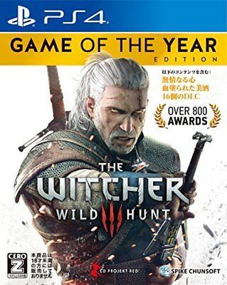 USED PS4 Witcher 3 Wild Hunt Game of the Year Edition Japan
