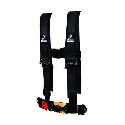 """Dragonfire Black 4 Point 2 """" Youth Harness Restraint Padded Offroad UTV Can-Am"""