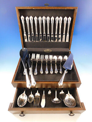 Grand Colonial by Wallace Sterling Silver Flatware Set for 12 Service 62 pcs