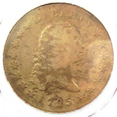 1795 Flowing Hair Silver Dollar ($1 Coin, 3 Leave) - PCGS Certified - Rare Coin!
