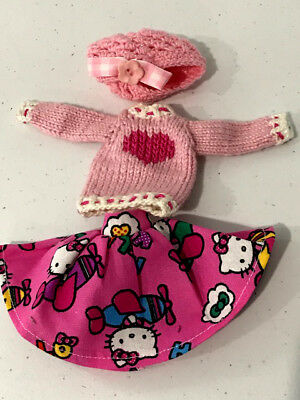 Ever after Monster High Doll handmade knit sweater hat skirt clothes