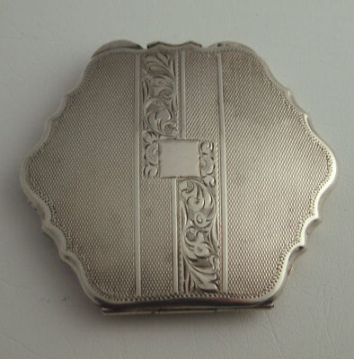 Fine Continental Solid Silver Compact - 108g.