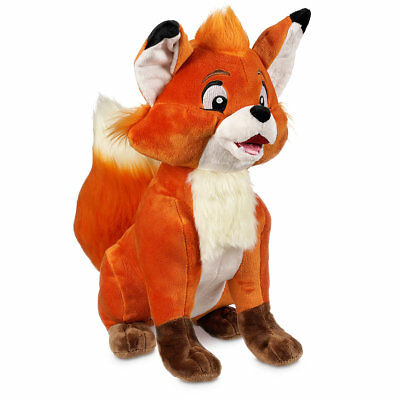 """Disney Authentic Fox and the Hound Tod Plush 13 1/2"""" Toy Stuffed Animal New"""