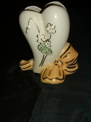 """VintAge American Bisque Pottery Vase  6"""" Tall X 6"""" Wide at Bottom"""