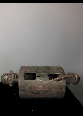 Old  Tribal Bamum 2 Headed  Musical  Instrument     ----  Cameroon