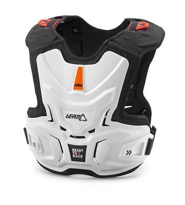 New Ktm Leatt Youth Kids Adventure Chest Protector White Sx Sxs Exc 3Pw1690100