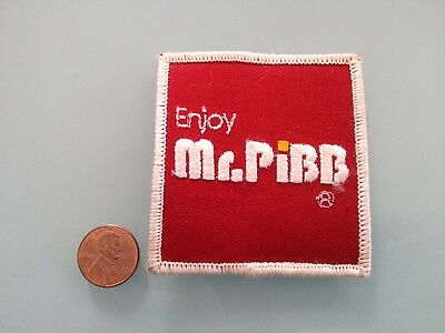 Vintage MR. PIBB soda pop PATCH unused RARE iron on