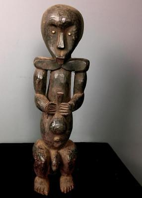 Old  Tribal Fang Reliquary Figure     ----  Gabon