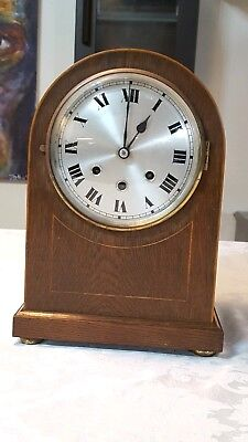 Antique German 8 Day Mahogany Musical Westminster Chime Bracket Clock