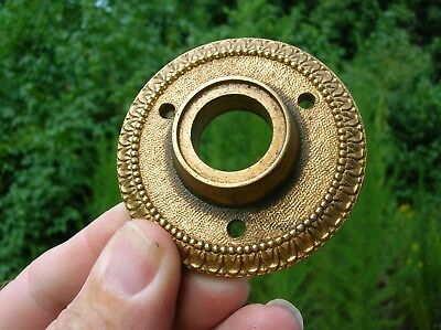Vintage Old Antique Bronze Door Knob Escutcheon Back Plate by Sargent